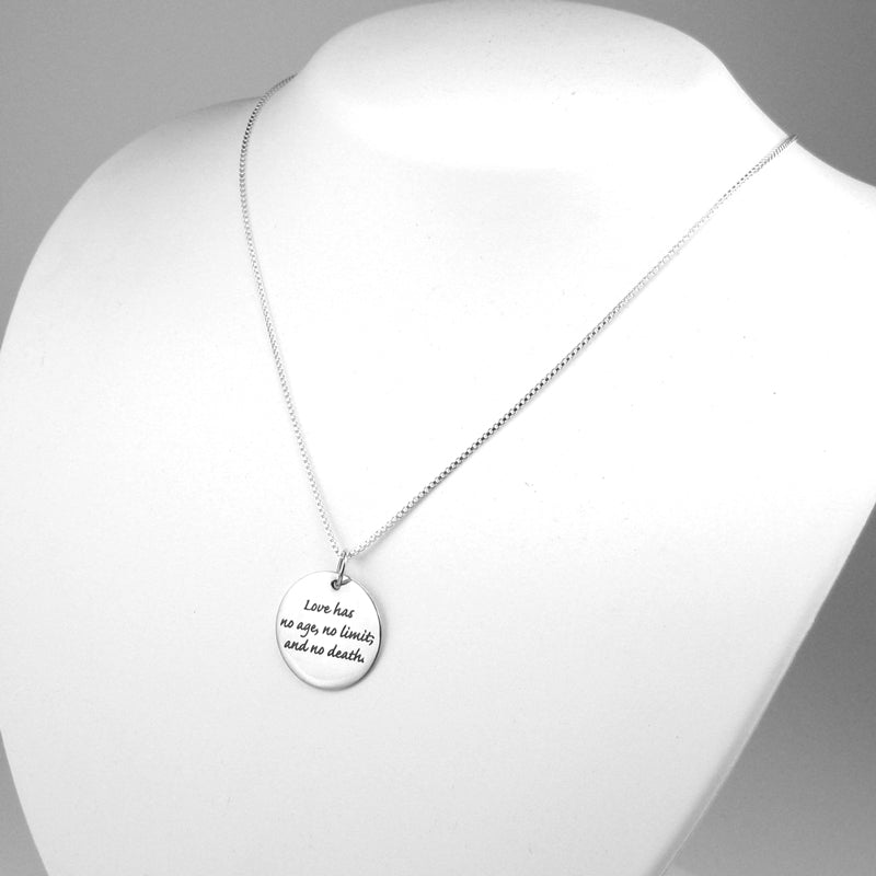 Love Has No Death Memorial Necklace | Sterling Silver