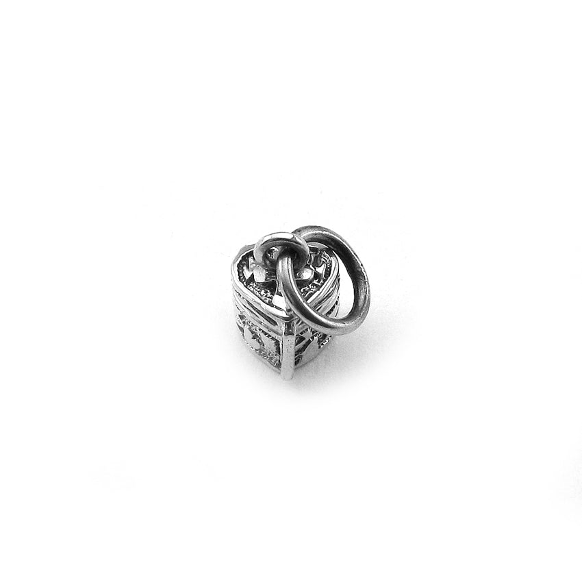 Sterling Silver Mini Heart Prayer Box Charm