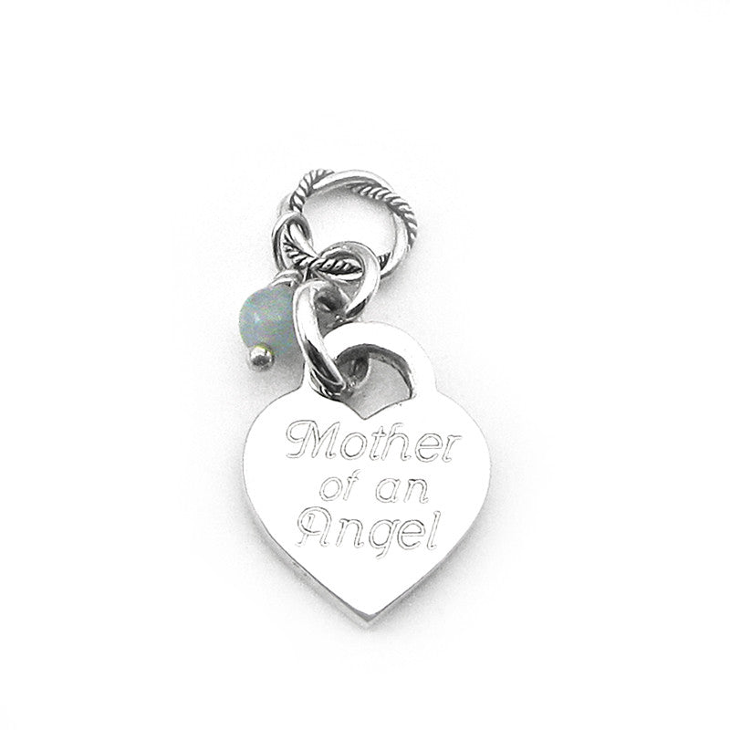 Mother of Angels Charm for Necklace, Miscarriage Jewelry, Loss of Baby, Infant, Child