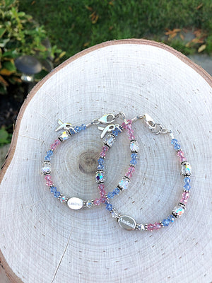 Pregnancy & Infant Loss Awareness Personalized Crystal Bracelet