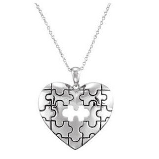 Piece Of My Heart Memorial Necklace | Sterling Silver