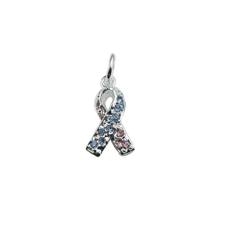 Pregnancy & Infant Loss Crystal Ribbon Awareness Charm