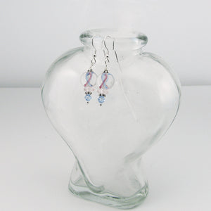Pregnancy & Infant Loss Awareness Lampwork Glass Bead Earrings