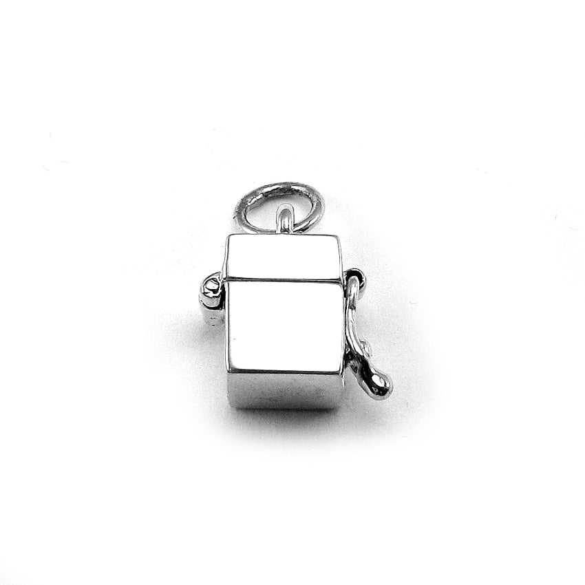 0ff2ee7fb Prayer Box Charm- Simple Cube | Sterling Silver - My Forever Child