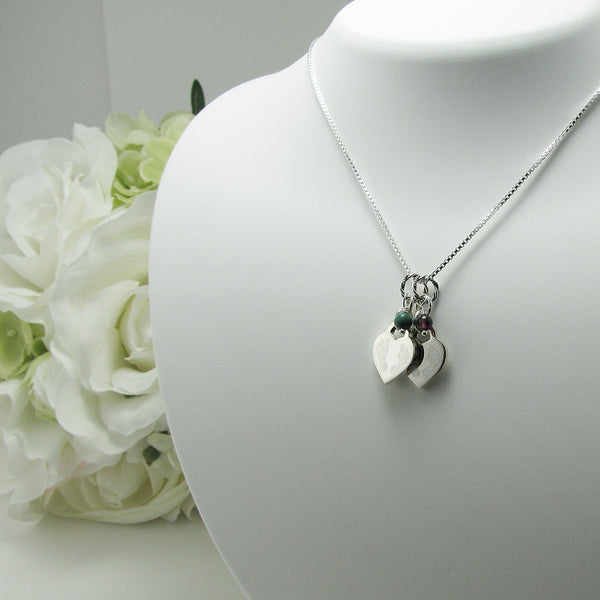 Double Baby Feet Sterling Silver Necklace Loss Of Twins