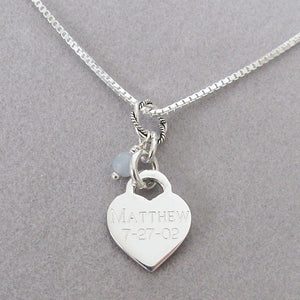 Back of Baby Footprints charm- personalized in Block Font