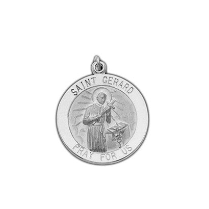 St Gerard Charm for Pregnancy- 14K White Gold