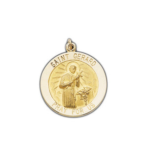 St Gerard Charm for Pregnancy- 14K Yellow Gold