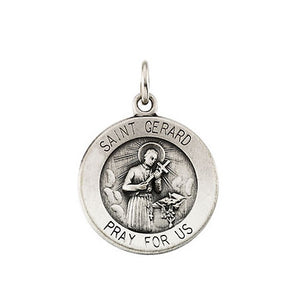 St Gerard Charm for Pregnancy- Sterling Silver