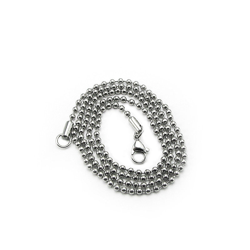 Stainless Steel Bead/Ball chain necklace for men