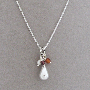 Tear of Remembrance Necklace with June, January & July birthstone gemstones to symbolize your lost loved ones | myforeverchild.com
