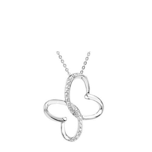 Wings Of Comfort Butterfly Necklace | Sterling Silver