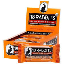 18 Rabbits 12 pack Apricot Walnut & Coconut Organic 1.6 oz