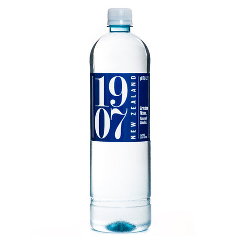 1907 Water, 12  pack case, New Zealand Artesian, 33.8 oz