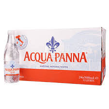 Acqua Panna, 24 pack case, Mineral Water Spring, Glass, 500 ml (16.9 oz)