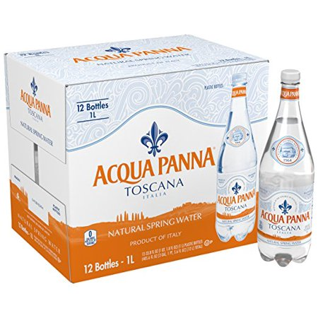 Acqua Panna, 12 pack case, Water Spring Glass, 1 Liter (33.8 oz)