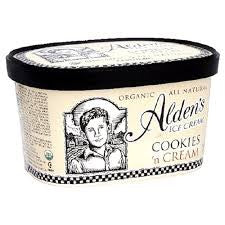 Alden`s Ice Cream 3 pack case, Cookies & Cream, Organic 48 oz