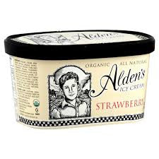 Alden`s Ice Cream 3 pack case, Strawberry, Organic 48 oz