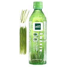 Alo Drink 12 pack case Aloe Vera Awaken Wheat Grass 16.9 oz
