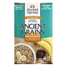 Ancient Harvest 8 pack case Cereal Banana & Brown Sugar Organic 10.58 oz