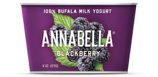 Annabella 12 pack, Blackberry, 100% Bufala Milk Yogurt 6 oz