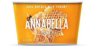 Annabella 12 pack, Honey, 100% Bufala Milk Yogurt 6 oz