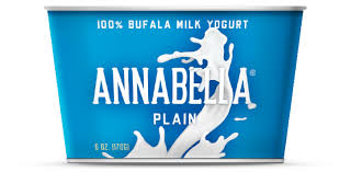 Annabella, 12 pack Plain, 100% Bufala Milk Yogurt 6 oz
