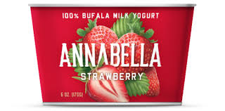 Annabella 12 pack, Strawberry, 100% Bufala Milk Yogurt 6 oz