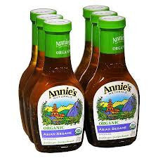 Annie`s Naturals 6 pack case Dressing Asian Sesame Organic 8 oz