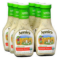 Annie`s Naturals 6 pack case Dressing Cow Girl Ranch Organic 8 oz