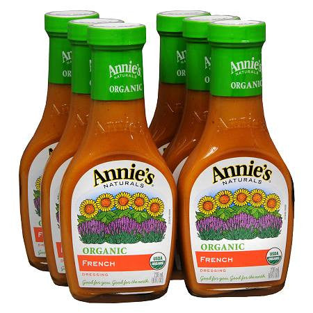 Annie`s Naturals 6 pack case Dressing French Organic 8 oz
