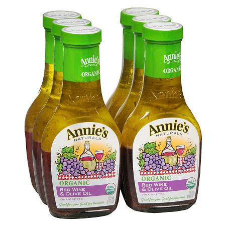 Annie`s Naturals 6 pack case Dressing Vinaigrette Red Wine & Olive Oil Organic 8 oz