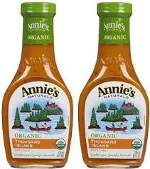 Annie`s Naturals 6 pack case Dressing Thousand Island Organic 8 oz