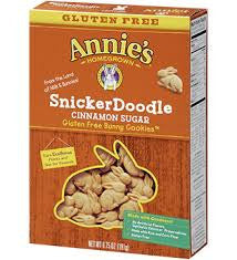 Annie`s 12 pack case Cookies Homegrown Snickerdoodle Bunny Gluten Free 6.75 oz