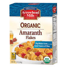 Arrowhead Mills 12 pack case Cereal Amaranth Flake Organic 12 oz