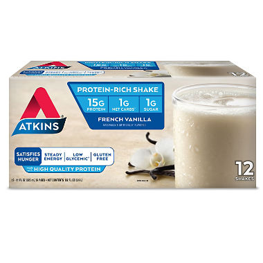 Atkins, 12 pack, French Vanilla Ready to Drink Shake, 11 oz