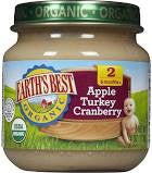 Earth`s Best 12 pack, Baby Food, Junior, Apple Turkey Cranberry, Organic, 4 oz