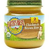 Earth`s Best Baby Foods 12 pack, Dinner, Chicken & Brown Rice, Organic, 4 oz