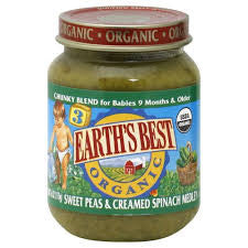 Earth`s Best 12 pack case, Meal, Junior, Zucchini Broccoli Medley, Organic, 6 oz