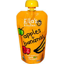 Ella`s Kitchen 12 pack case Apple & Banana Organic 3.5 oz