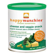 Happy Baby 6 pack case Broccoli Kale & Cheddar Cheese Organic 1.67 oz