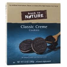 Back to Nature 6 pack case Cookies Classic Creme Sandwich 12 oz