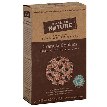 Back to Nature 6 pack Granola Dark Chocolate & Oat 8.5 oz