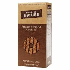 Back to Nature 6 pack case Cookies Fudge Striped Shortbread 8.5 oz
