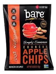 Bare Fruit 24 pack case Chips Cinnamon Apple .53 oz
