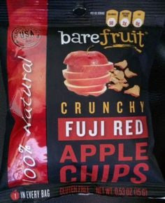 Bare Fruit 24 pack case Chips Fuji Red Apple .53 oz