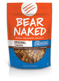 Bear Naked 6 pack case Cinnamon & Sunflower Butter 11 oz