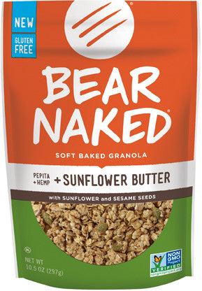 Bear Naked 6 pack case, Sprouted Seed/sunflower Butter 10 oz
