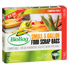 Biobag, 12 pack case, 25 Bags ea. Trash, Composte Waste, 3 Gallon