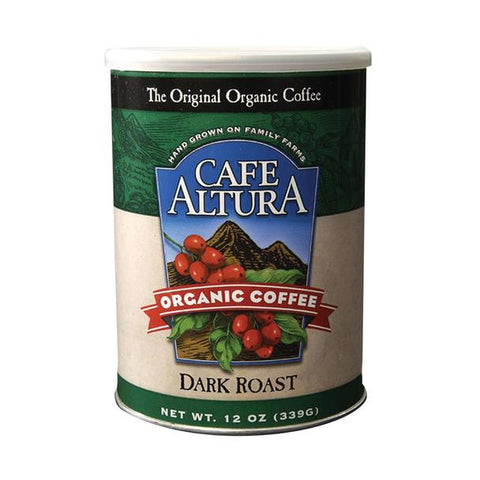 Cafe Altura, 6 pack case, Coffee Ground, Dark Roast, Organic, 12 oz